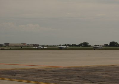 Aircraft waiting to Taxi onto Runway